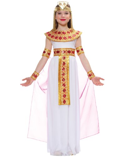 [Costume Culture Cleopatra Egyptian Queen Kids Costume, Pink] (Egyptian Queen Cleopatra Costume)