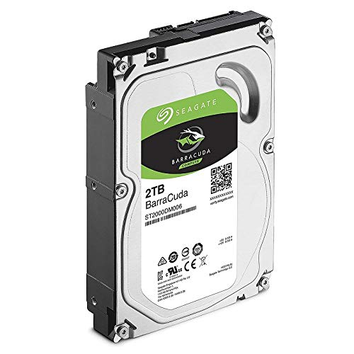Seagate BarraCuda 2TB Internal Hard Drive HDD - 3.5 Inch SATA 6Gb/s 7200 RPM 256MB Cache 3.5-Inch - Frustration Free Packaging (ST2000DM008)