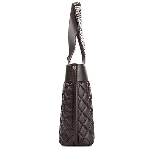 LOVE MOSCHINO Quilted Tote with Gold Metallic Logo Handles, Black by MOSCHINO (Image #3)