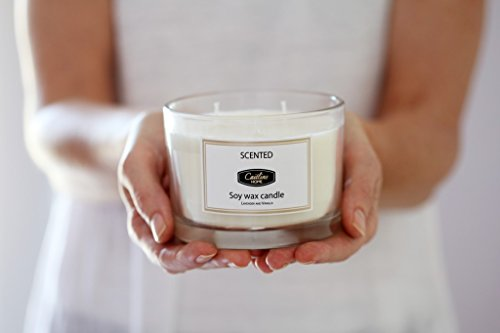 White Tea and Ginger Scented Candles 13oz Aromatherapy Large 3 wick Candle Natural Wax, Gift Candle for Mothers Day by Caitlins Home (Image #2)