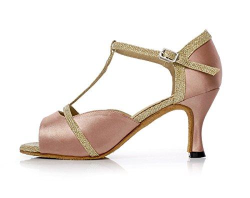 In Minitoo T Glitter Donna Beige Ballo Scarpe strap Moda Raso Alla Da 8Xrq8