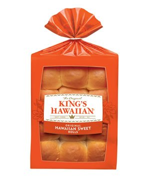 KING'S HAWAIIAN DINNER ROLLS SWEET BREAD