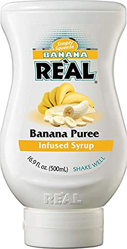 Banana Reàl, Banana Puree Infused Syrup, 16.9 FL OZ Squeezable Bottle | Pack of 12 by Reàl (Image #3)