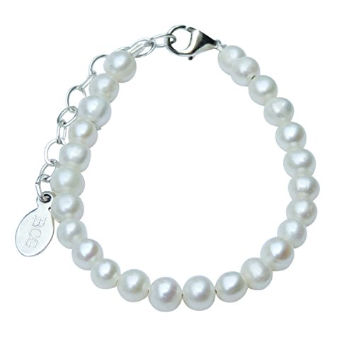 (Beloved Child Goods Tiny Cultured Freshwater Pearl & Sterling Silver Bracelet for Babies)