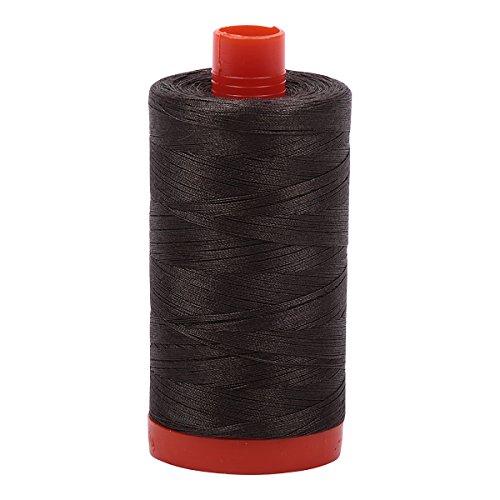Aurifil Mako Cotton Thread Solid 50wt 1422yds Asphalt