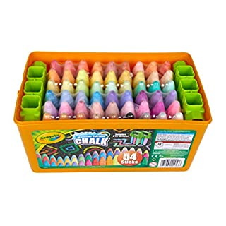 Crayola 54 Count Sidewalk Chalk Bucket with Tools