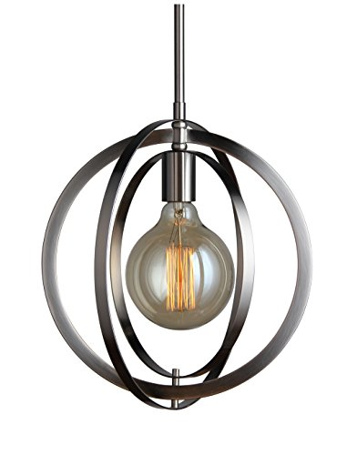 Woodbridge Lighting 19823STN-G125 Geo Mini-Pendant, Satin - Geo Pendant Nickel