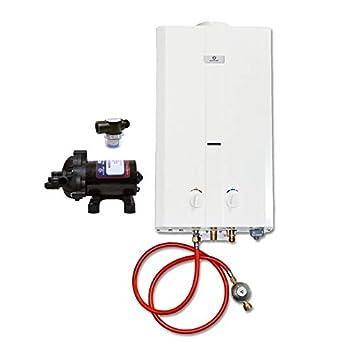 Eccotemp CEL10 - Calentador de Agua portátil (2,6 GPM, diafragma EccoFlo 12