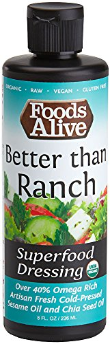 Foods Alive Superfood Dressing, Better Than Ranch, Organic, 8oz