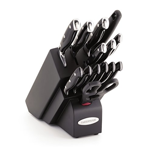Farberware 15-Piece Forged Triple Rivet Knife Block Set, Black ()