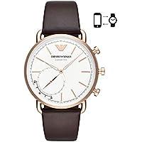 Emporio Armani Men's ART3029 Hybrid Smartwatch Analog Display Analog Quartz Brown Watch