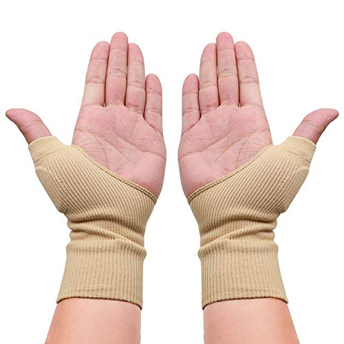 Ztl 1 Pair Therapy Gloves Gel Filled Thumb Support Wrist Brace Arthritis Compression for Men & Women