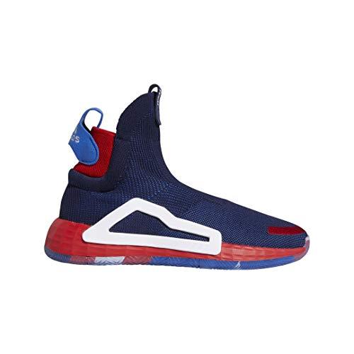 adidas N3XT L3V3L Mens (Marvel - Captain America) in Collegiate Navy/Cloud White/Scarlet, 10.5 (Basketball Captain America Shoes)