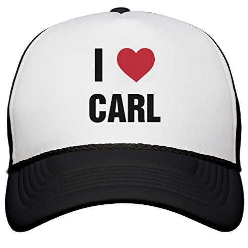 I Love Carl Matching Hats: Snapback Trucker Hat