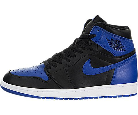 Jordan 1 Retro High OG Men's Shoes Black/Royal/White 555088-007 (10 D(M) US)