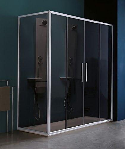Mampara de ducha Pixel Gamme Trendy a cuatro paneles 2 fijas y 2 coulissants: Amazon.es: Bricolaje y herramientas