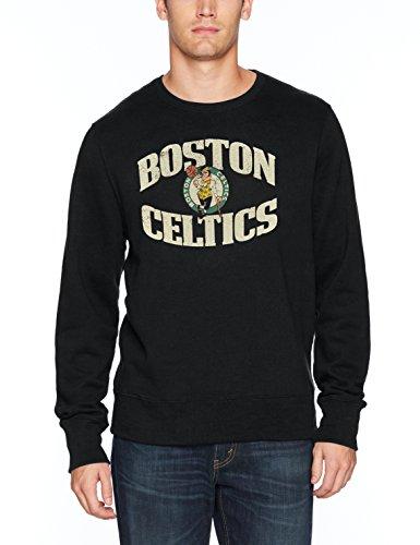 NBA New York Knicks Men's OTS Fleece Crew, Distressed Marbleton, - New York Knicks Fleece Team