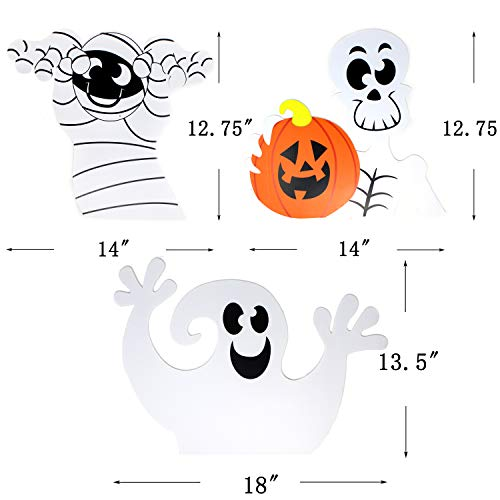 Amazon.com : JOYIN Friendly Halloween Corrugate Yard Stake Signs (9 Pieces) for Halloween Outdoor/Indoor Decorations, Lawn Yard Decorations, ...