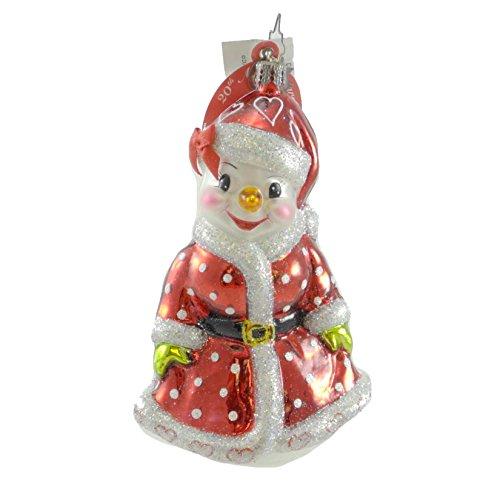 Christopher Radko BELLA SNOWBALL Glass Ornament Snowman Christmas