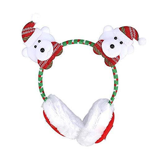 BinaryABC Christmas Earmuffs Headband Ear Warmers for Kids Adults]()