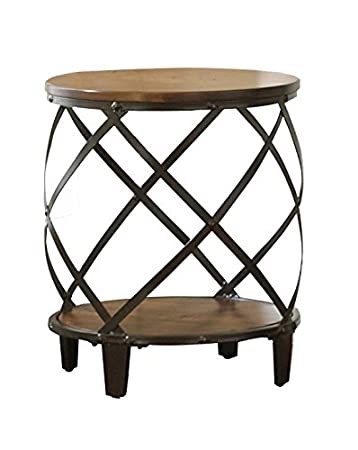 Amazon Com Steve Silver Company Winston Round End Table Kitchen