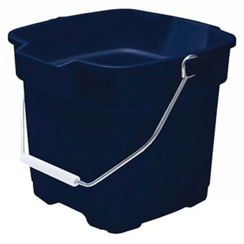 Square Pail Lid - Rubbermaid FG287100ROYBL Roughneck Square Bucket, 15-Quart, Blue