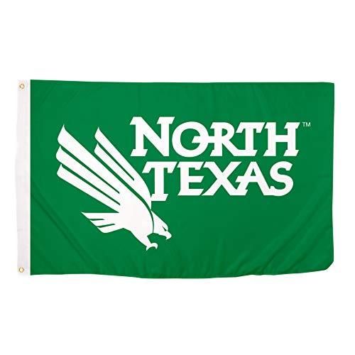 Desert Cactus University of North Texas 100% Polyester Indoor Outdoor Flag UNT (Flag/NorthTexas/G) (Unt Flag)