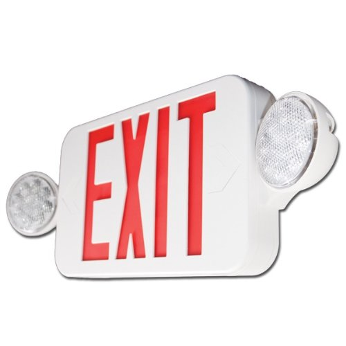 Exit Light Combo Red Compact ** ALL LED ** High Output by Triangle Bulbs (Image #1)