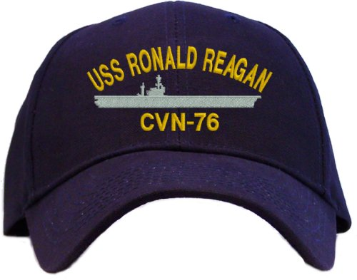 Ronald Reagan Baseball - USS Ronald Reagan CVN-76 Embroidered Baseball Cap - Navy