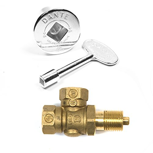Angled Chrome Key Valve or Log Lighter Valve w/ Key & Cover  Model: KVAC