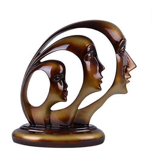 MSchunou Character Abstract Home Decoration, Smooth Lines, Rich Texture of Home Resin Desktop Decoration Crafts ()