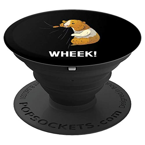 Biting Guinea Pig Wheek Funny Pet Owner Gift - PopSockets Grip and Stand for Phones and Tablets
