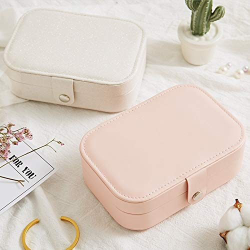 fe13e1dff5e5 Travel Jewelry Organizer Box Cosmetic Makeup Organizer Jewelry Packaging  Box Earrings Storage Case,Pink