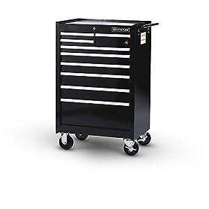 Craftsman 27 in. 9-Drawer Ball Bearing Slides Roller Cabinet, Black