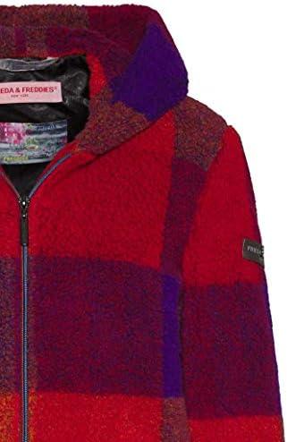 FRIEDA & FREDDIES NY - Jacke - Karo - Fleece - rot - lila - froginlove - 7723