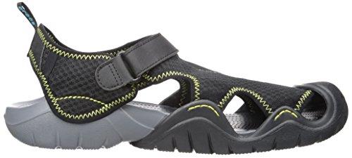 Crocs Swiftwater Black Sandal Uomo Charcoal M Nero Sandali SfYSdwrq