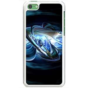 Magicly-Diy Apple iPhone 5C case covers Customized Gifts Of 3D Graphics Center Of Abstract 3d Abstract Bzu4aURZi1g White