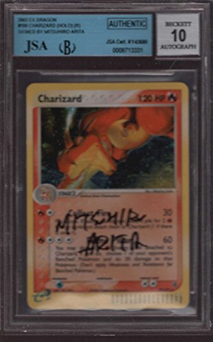 Mitsuhiro-Arita-Pokemon-Artist-Autograph-Charizard-10097-JSA-BGS-10-Authentic-ex-dragons-Signature-Auto