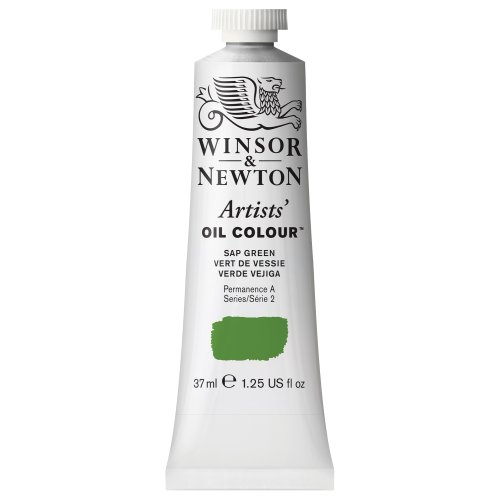 Winsor & Newton Artists' Oil Colour Paint, 37ml Tube, Sap Green