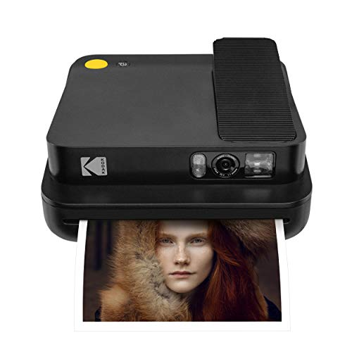 KODAK Smile Classic Digital Instant Camera with Bluetooth (Black) 16MP Pictures, 35 Prints per Charge – Includes Starter Pack 3.5 x 4.25 Zink Photo Paper, Sticker Frames Edition.