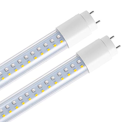 LOHAS T8 WIFI Control Smart LED, G13 Tube Light Bulb 4ft, Mulit-color Daylight White LED, Dual-End Powered, 150W Equivalent (22W), 2280 Lumen Compatible with Amazon Alexa and Google Assistant(2 Pack)