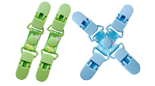 Durable Plastic Clip Pairs for Gloves, Mittens, Caps and Hats, Toddler, Kids & Adults, 2 Color Pairs