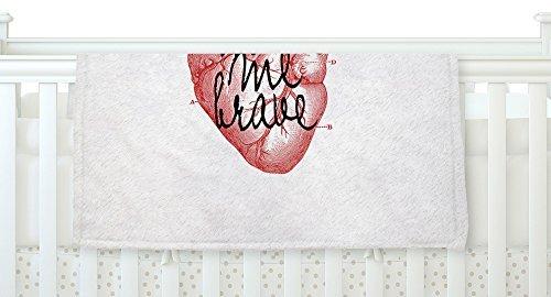 KESS InHouse Suzanne Carter Make Me Brave White Red Fleece Baby Blanket 40 x 30 [並行輸入品]   B077YWSYC9