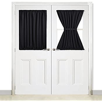 Amazon Com Nicetown Blackout Curtain For French Doors