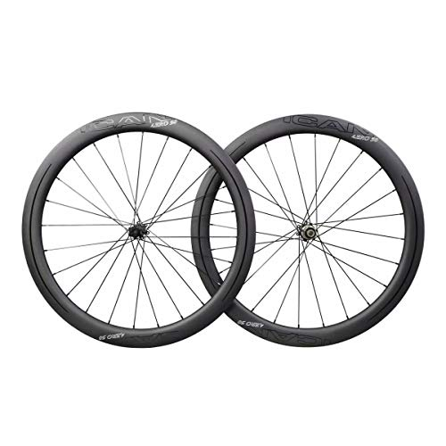 HKN ICAN AERO50 Center Lock Carbon Clincher Tubeless Ready Wheelset in The USA