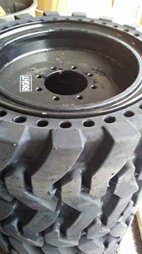 Set of Four (4) Solid Skid Steer Loader Tires. Size: 33x12-20 (12-16.5)
