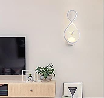 HONGLI Nordic Führte Nachttischlampe Schlafzimmer Wand Wohnzimmer Esszimmer  Vogel Kreative Einfache TV Wand Treppe Ganglichter,