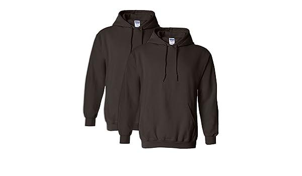 Gildan G18500 Heavy Blend Adult Unisex Hooded Sweatshirt 4XL Sport Grey 2 Pack