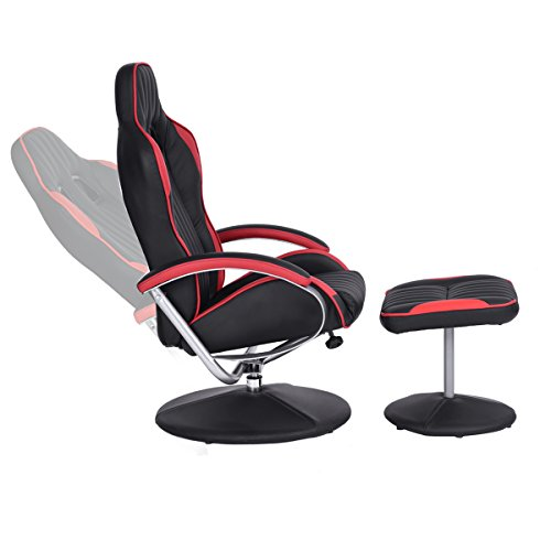 Homy Casa Leisure Recliner And Ottoman Chair Set Racing