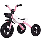 Children's Ankle Tricycle Folding Portable 3-4-5-6 Pedal Bicycle(Pink)